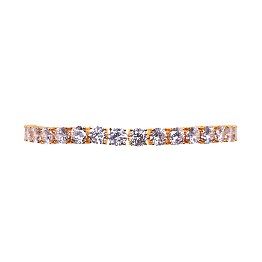 Best Selling Iced Out Bracelet: Micro Iced Out Tennis Bracelet in Gold & Silver
