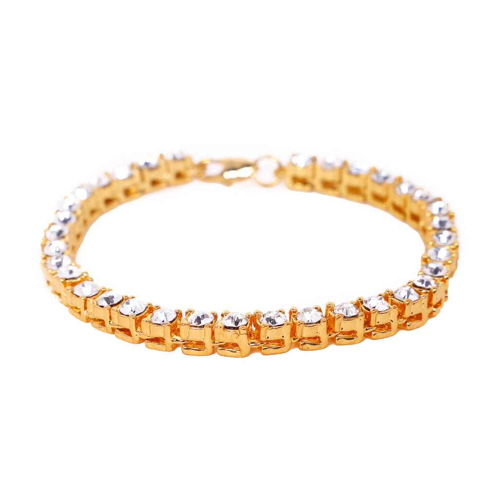 Best Selling Iced Out Bracelet: Micro Iced Out Tennis Bracelet in Gold & Silver (Free)