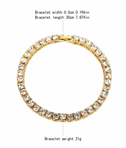 Image of Iced Out Bracelet: Micro Iced Out Tennis Bracelet in Gold (Special Offer)