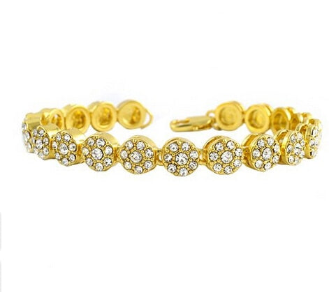 Image of Gold Bling Iced Out Cz Bracelet for Mens