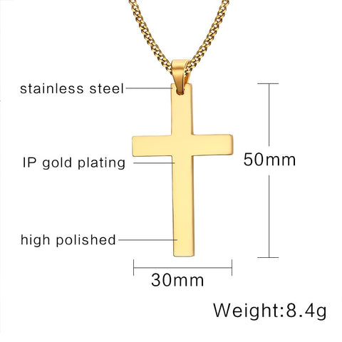 Cross Gold Men's Cuban Chain
