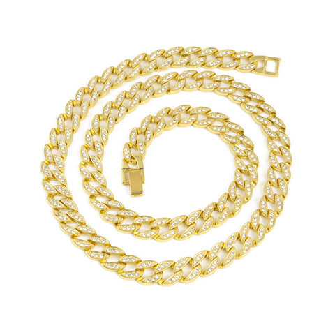 Image of Iced out CZ Rhinestone Cuban Link Chain
