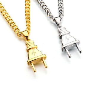 Electrical Plug Shape Pendant Link Chain (Free)