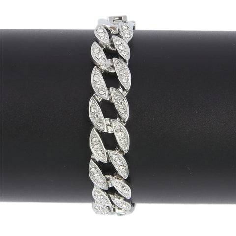 Image of Miami Cuban Iced Out Rhinestone Bracelet