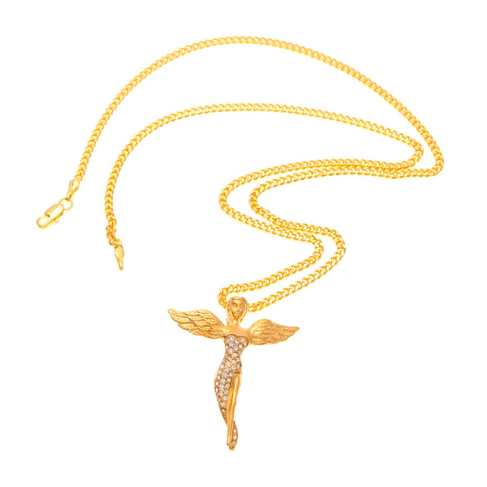 Iced Out Gold Baby Angel Chain