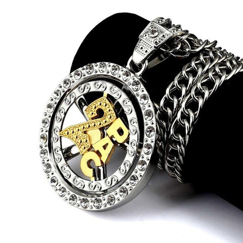 Image of CZ 2pac Tupac Cuban Link Chain