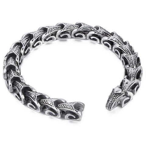 Image of Dragon Grain Chain Punk Stainless Steel Bracelet