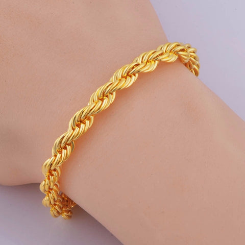Rope Bracelet 5 MM Thick Twisted Braided Chain Bracelet