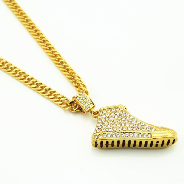 Iced Out Shoes Chain for Men