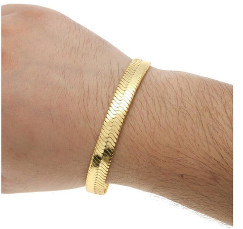 Image of Gold Filled Men's Snake Bracelet