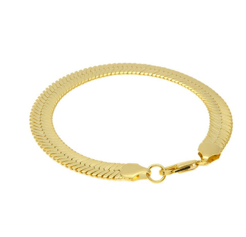Gold Filled Men's Snake Bracelet