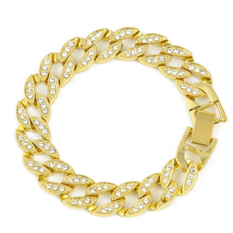 Miami Cuban Iced Out Rhinestone Bracelet