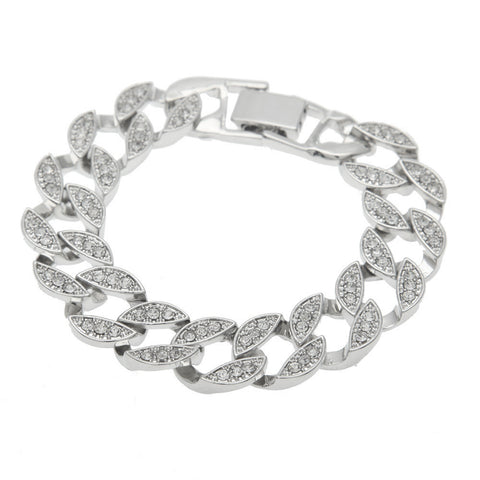 Image of Men Rhinestone Crystal Bracelet