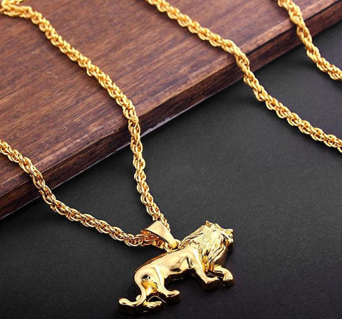 Image of Lion Pendant Necklace (Free)