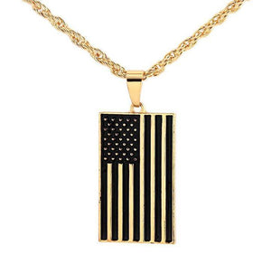 American Flag Pendant Necklace (Free)