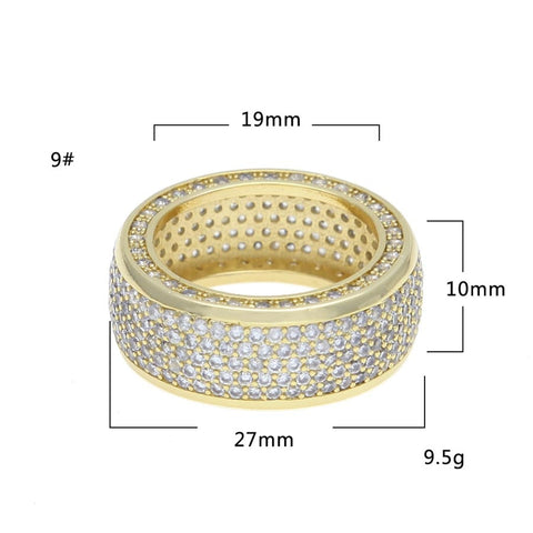 Image of Iced Out 5 Rows Ring