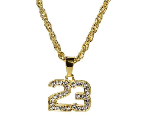 Crystal Basketball Legend Number 23 Cuban Chain (Free)