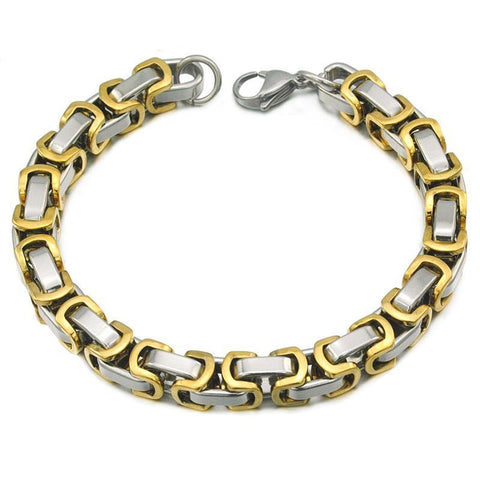 Image of Men's Bracelets Byzantine chain 8mm 22cm Wrist Bracelet