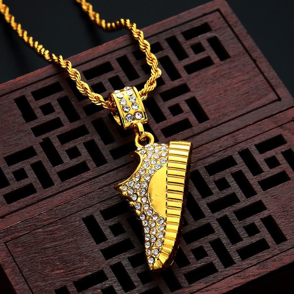 Rope chain Hip Hop Shoe Pendant (Free)