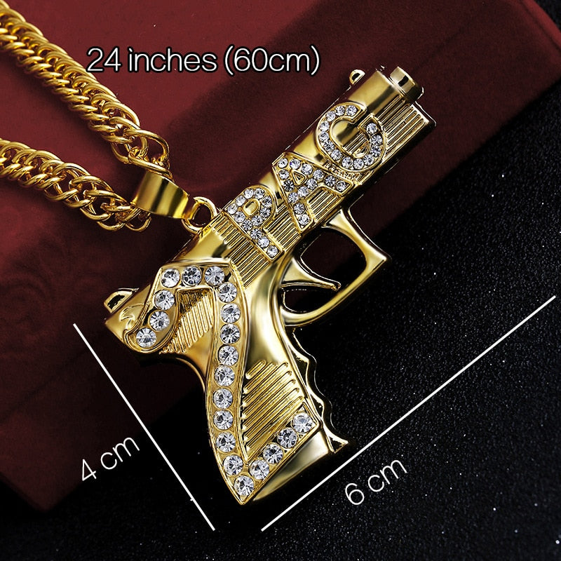 Iced Out Goon, AK47 Pendants & Lab CZ Crystal Watch Combo