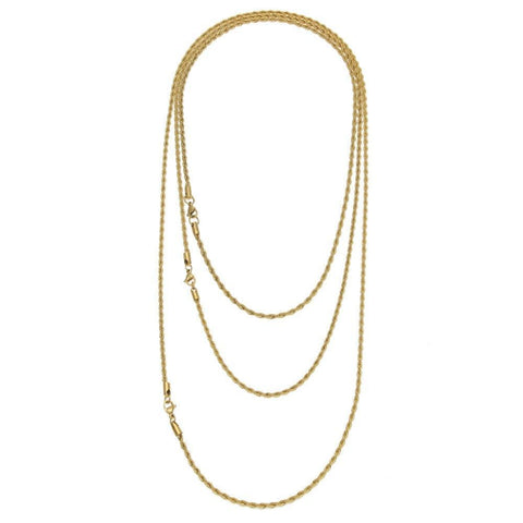 Rapper's 3mm Rope Chain Gold / Silver (Free)