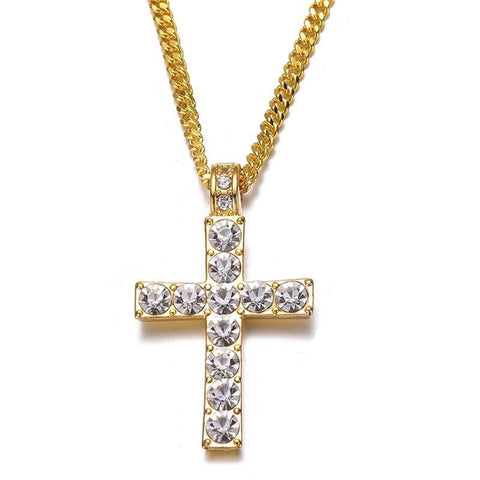 Image of Iced Out Crystal Cross Pendant