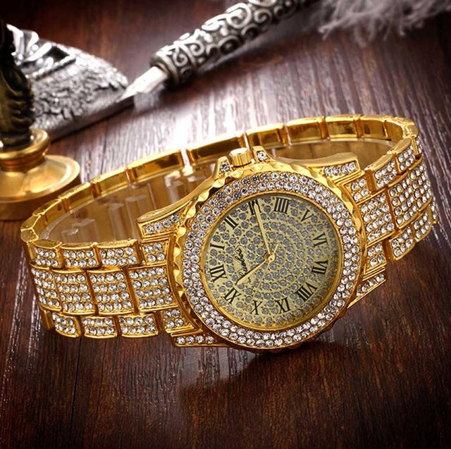 Iced Out Lab CZ Crystal Bling Watch Glitter Bracelet