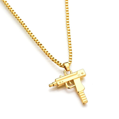 Image of Hip Hop Pistal Necklance Gold / Silver (Free)