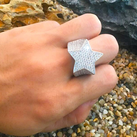Image of Five Point Star Micro Paved CZ Ring
