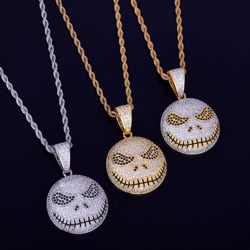 Character Emoji Face Pendant With Cuban Chain