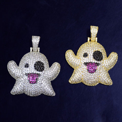 Image of Ghost Necklace & Pendant With Tennis Chain