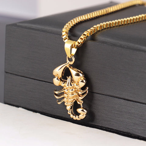 Scorpion Pendant Necklaces Link Chain (Free)