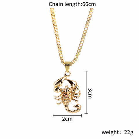 Image of Scorpion Pendant Necklaces Link Chain (Free)