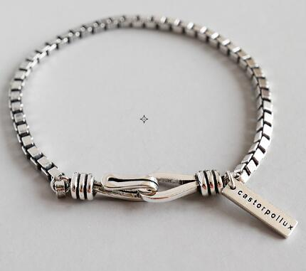 Image of 100% 925 Sterling Silver Punk Rock Bracelets & Bangles
