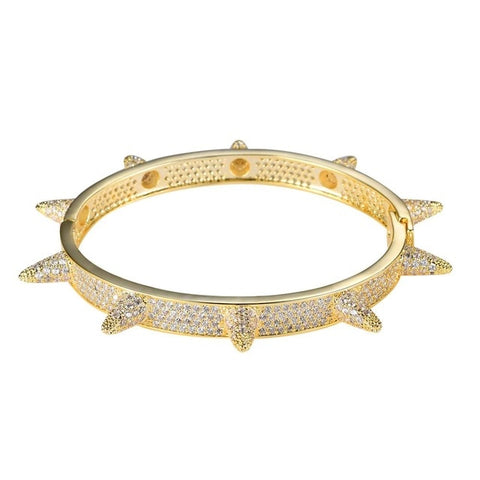 Image of Iced Out Bling Chain Bangle Jewelry Copper CZ stone