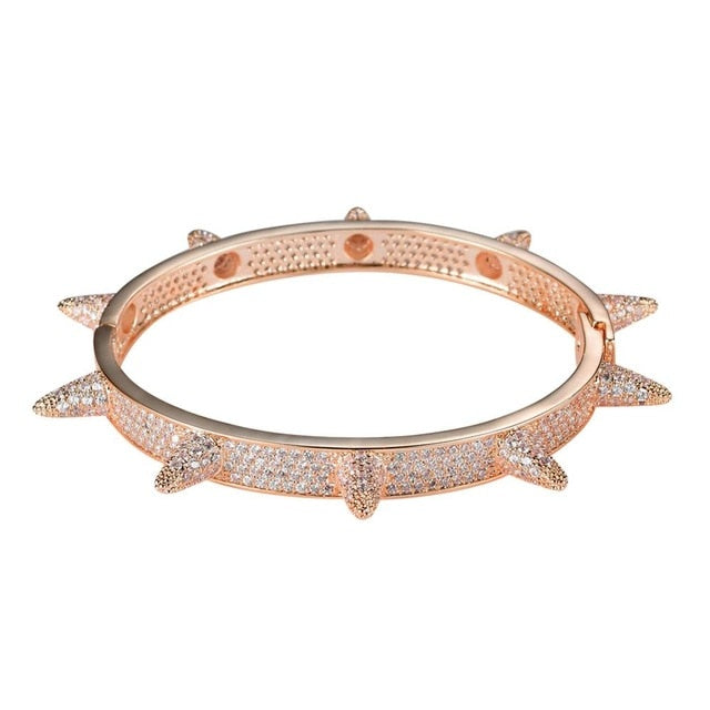 Iced Out Bling Chain Bangle Jewelry Copper CZ stone