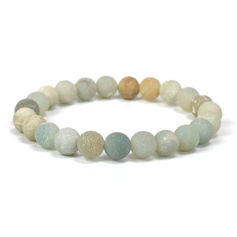 Image of Handmade 6mm AA Grade Amazonite Beaded Bracelet