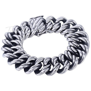 Big Curb Link Chain Wristband Bracelet