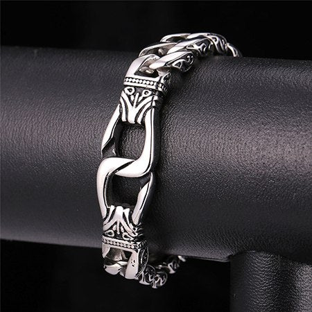 Image of Punk Big Heavy Bracelet Engagement Chain Bracelet 15mm