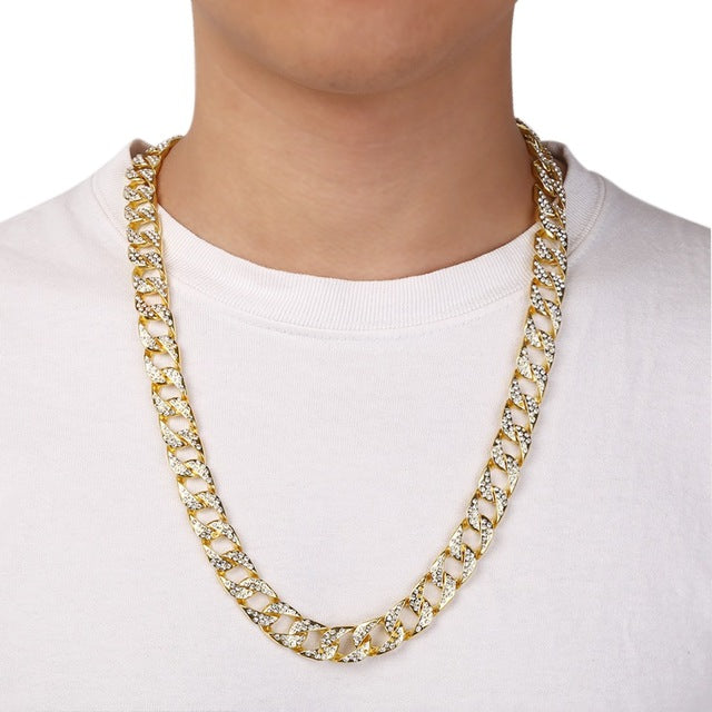 Shellhard Iced Out Crystal CZ Chain for Men