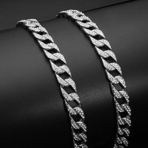 Image of Shellhard Iced Out Crystal CZ Chain for Men