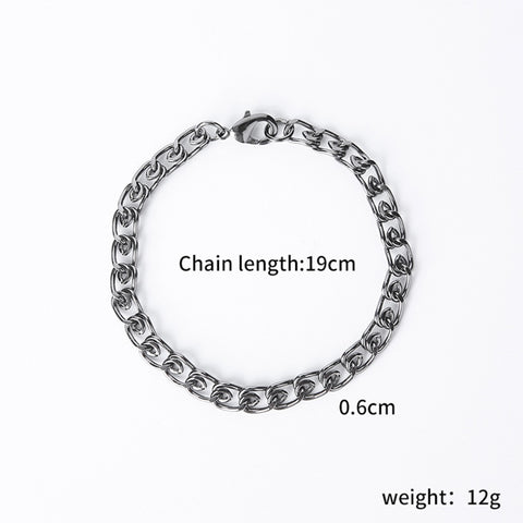 Image of Shellard Punk Twisted Chain Bracelet (Free)
