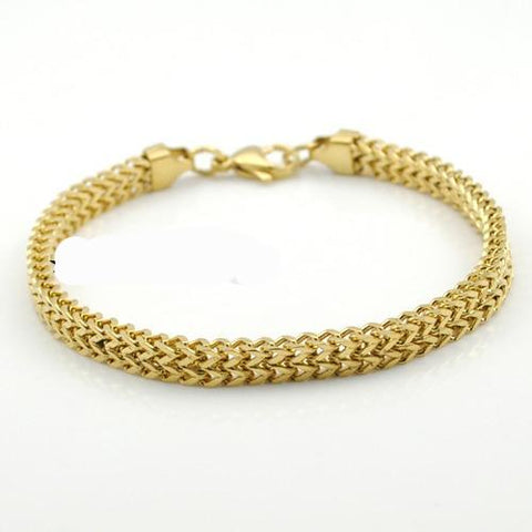 Image of Gold Biker's Bracelet for Men