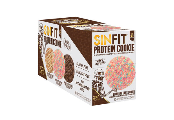 SINFIT® - Birthday Cake Protein Cookie - 10 Pack