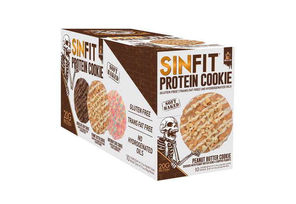 SINFIT® - Peanut Butter Protein Cookie - 10 Pack