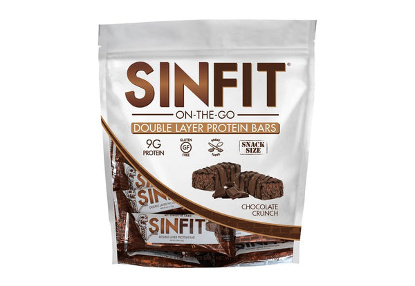 SINFIT® - Snack Size Bars in a Bag - Chocolate Crunch Bar - ONLY £7.00 (Dec BB Date)