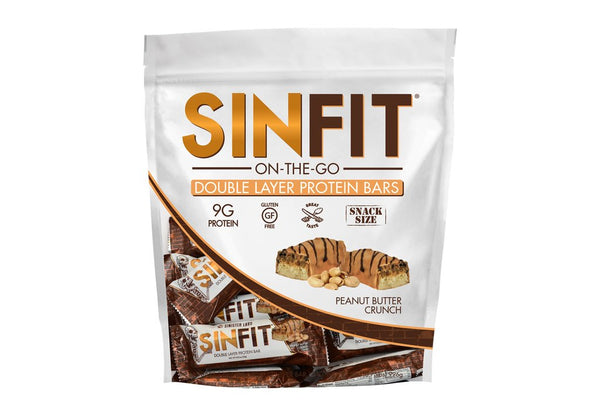 SINFIT® - Snack Size Bars in a Bag - Peanut Butter Crunch Bar ONLY £7.00 (Dec BB Date)