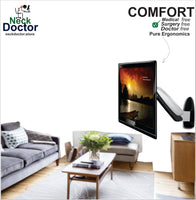 Full motion Ergonomic tv wall mount - NeckDoctor COMFORT
