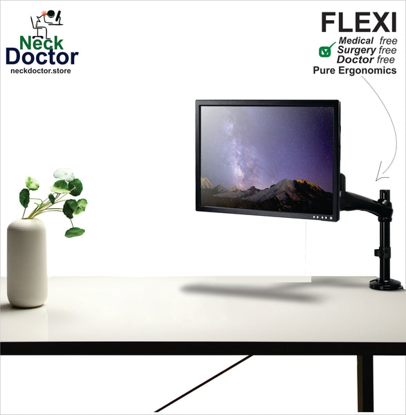 Ergonomic Gas Spring Monitor Arm Stand – NeckDoctor FLEXI