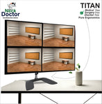 Adjustable Four Monitor Arm Stand - NeckDoctor TITAN